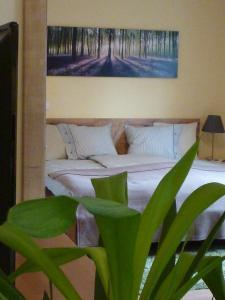 Ein Bett oder Betten in einem Zimmer der Unterkunft Apartment Kleßheim