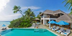 The swimming pool at or near Dusit Thani Maldives