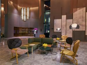 The lobby or reception area at Oasia Hotel Downtown, Singapore by Far East Hospitality (SG Clean)
