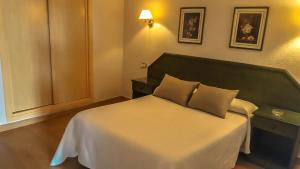 A bed or beds in a room at Hotel Salvador