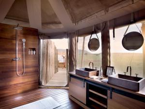 A bathroom at One Nature Nyaruswiga Serengeti