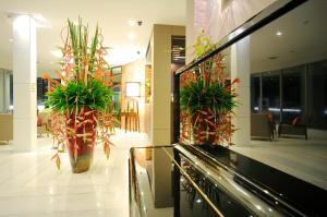 The lobby or reception area at Kasemsarn Hotel Chanthaburi