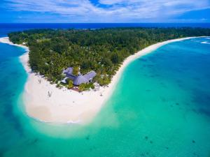 A bird's-eye view of Denis Private Island Seychelles