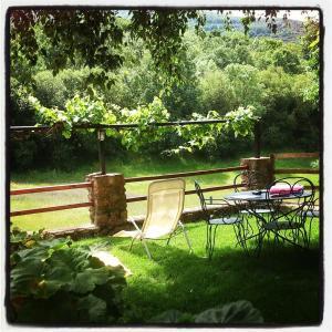 Jardín al aire libre en La Casería