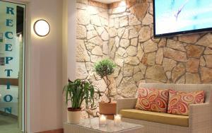 Χώρος καθιστικού στο Amaryllis Hotel Apartments