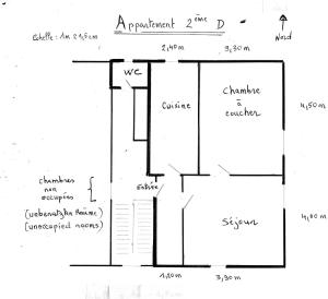 The floor plan of Appartement à Munster