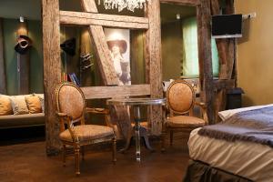Ein Sitzbereich in der Unterkunft Romantik Hotel Friedrich von Schiller