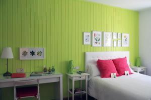 Cama o camas de una habitación en La Casita de la Abuela Paula