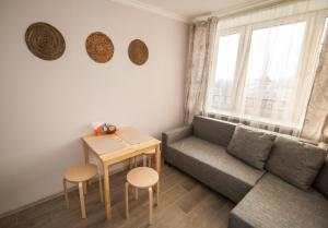 A seating area at Vnukovo Airport Apartments