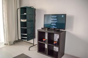 A television and/or entertainment centre at Vnukovo Airport Apartments