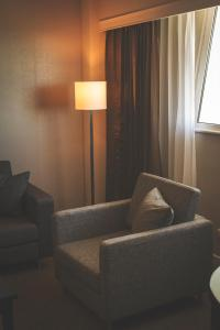 A seating area at Crowne Plaza Managua