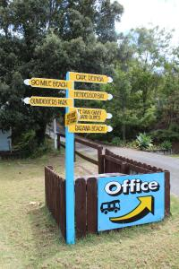 A certificate, award, sign, or other document on display at Pukenui Holiday Park