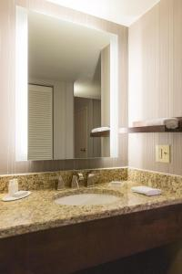 A bathroom at Courtyard by Marriott Nashville Downtown