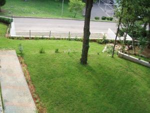 A garden outside Apartments Viktorija