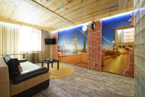 Гостиная зона в PaulMarie Apartments on Pushkina