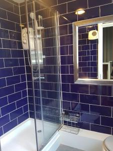 A bathroom at Mother Macs