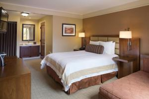 A bed or beds in a room at Hotel Abrego