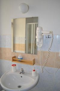 A bathroom at Hostel Advantage