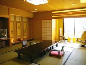 A seating area at Ryokan Beniayu