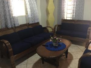 Uma área de estar em Sítio Bicho Feliz