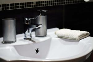 A bathroom at B&B Antica Napoli