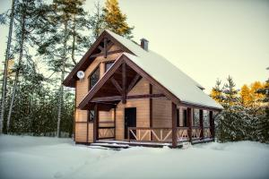 Dom v Karelii зимой