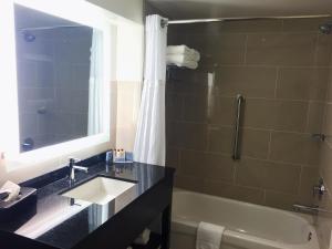 A bathroom at Wingate by Wyndham Niagara Falls