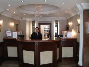 The lobby or reception area at Royal Eagle Hotel