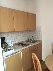 Küche/Küchenzeile in der Unterkunft Unertl Bräustüberl