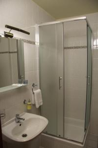 Koupelna v ubytování Hotel Koruna Prachatice