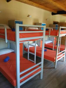 A bunk bed or bunk beds in a room at Albergue Pension Porta Santa