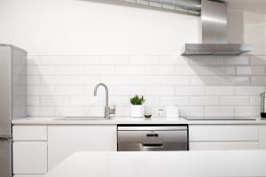 A kitchen or kitchenette at Vana-Posti Apartment