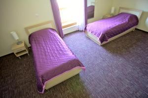 Un pat sau paturi într-o cameră la Terme Topolsica Apartments