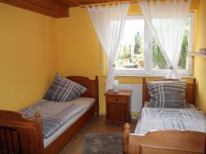 Ein Sitzbereich in der Unterkunft Haus Kurtz