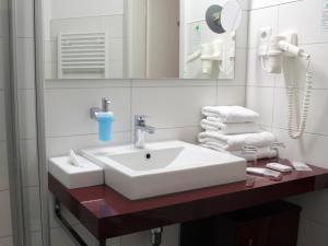 Et badeværelse på Kurhaus Devin