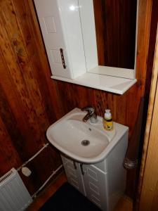 A bathroom at Tammepiiga Puhkemaja