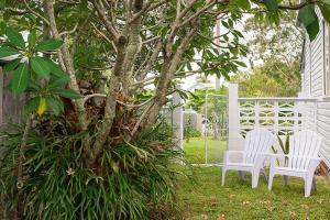 A garden outside Lena's Beach House Byron Bay