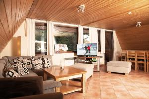 A seating area at Ski Jasna Chalet
