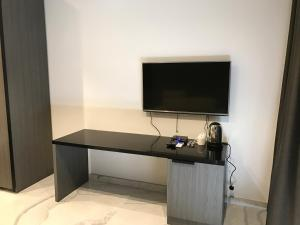A television and/or entertainment center at Hub apartment