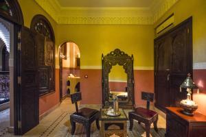 Coin salon dans l'établissement Riad Lamya Marrakech