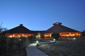 The building where the luxury tent is located