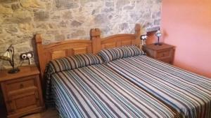 Cama o camas de una habitación en Escuelas De Fuentes