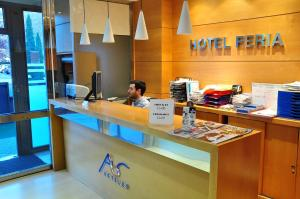 The lobby or reception area at Hotel Feria
