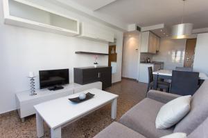 Zona de estar de Pio XII Apartments Valencia