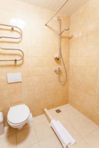 A bathroom at AirInn Vilnius Hotel