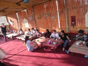 A restaurant or other place to eat at Desert Retreat Camp