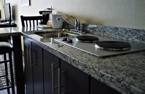 A kitchen or kitchenette at Sigma Inn & Suites