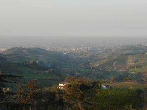 Vista aerea di Exquisite Villa with Sauna in Cesena