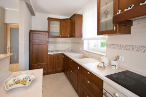 A kitchen or kitchenette at Apartments Silvia