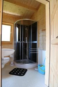 Ein Badezimmer in der Unterkunft Ferienpark Seeblick